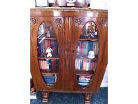 1920's Oak Bookcase/Cabinet