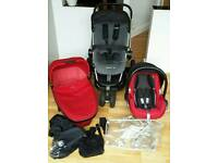 Quinny buzz travel system and maxi cosi car seat