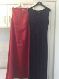 Beautiful evening/cruise dresses. Size 16 suit tall lady