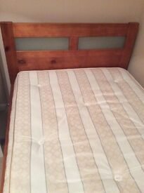 Solid Wood Single Bed & Mattress if needed.