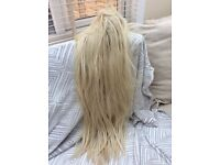 Long blonde wig for sale.
