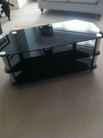 Modern Glass Unit Black/chrome