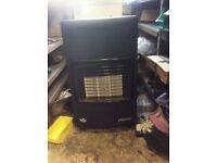 Calor gas fire and bottle ideal garage or workshop