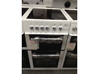 Flavel Milano E50 electric cooker. White. £225 new/graded 12 month Gtee