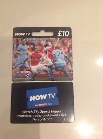 Now TV Sky Sports Card