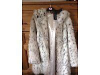 Ladies long fur jacket