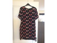 Size 12 Monsoon black/floral dress smart/casual