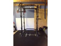 Power rack, bench and floor for sale