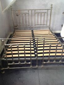 Chrome double bedstead very good condition