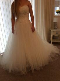 Ivory Wedding Dress size 10 with crystal bodice