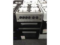 Beko 50cm silver gas cooker. £240 new/graded 12 month Gtee