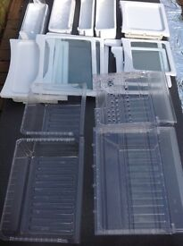 SAMSUNG AMERICAN FRIDGE FREEZER PARTS SHELVES / COMPARTMENTS FOR BOTH FRIDGE AND FREEZER SIDES