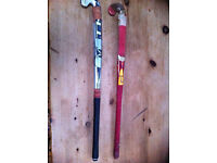 Two Hockey Sticks - TK brand, used - but much loved