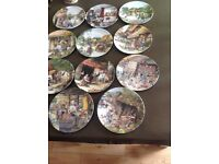 10 Old Country Crafts Susan Neale plate collection, limited edition good condition .