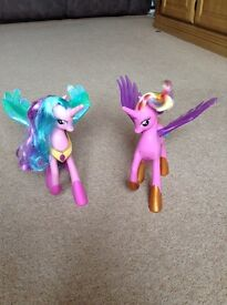 2 My Little Pony Princess Celestria talking ponies
