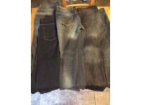 5 pairs of men's jeans in 38 reg and 38 long