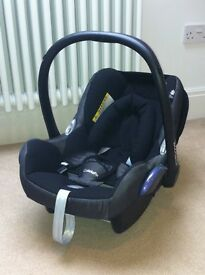 Maxi Cosi Cabrio Fix Infant Car Seat in Excellent Condition (also selling Iso Fix Base if Required)