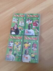 Soccer Brilliance VHS Videos Numbers 1-4
