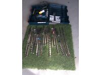 Bosch 110v drill with lots of SD max drill bits
