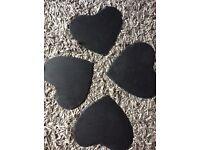 4 Large slate stone table mats
