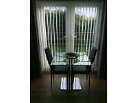 John Lewis glass table and 4 chairs