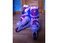 BANG ON THE DOOR / GROOVY CHICK ADJUSTABLE INLINE SKATES - AS NEW