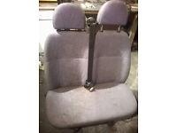 ford transit mk6 /7 front passenger bench seat grey free to uplift
