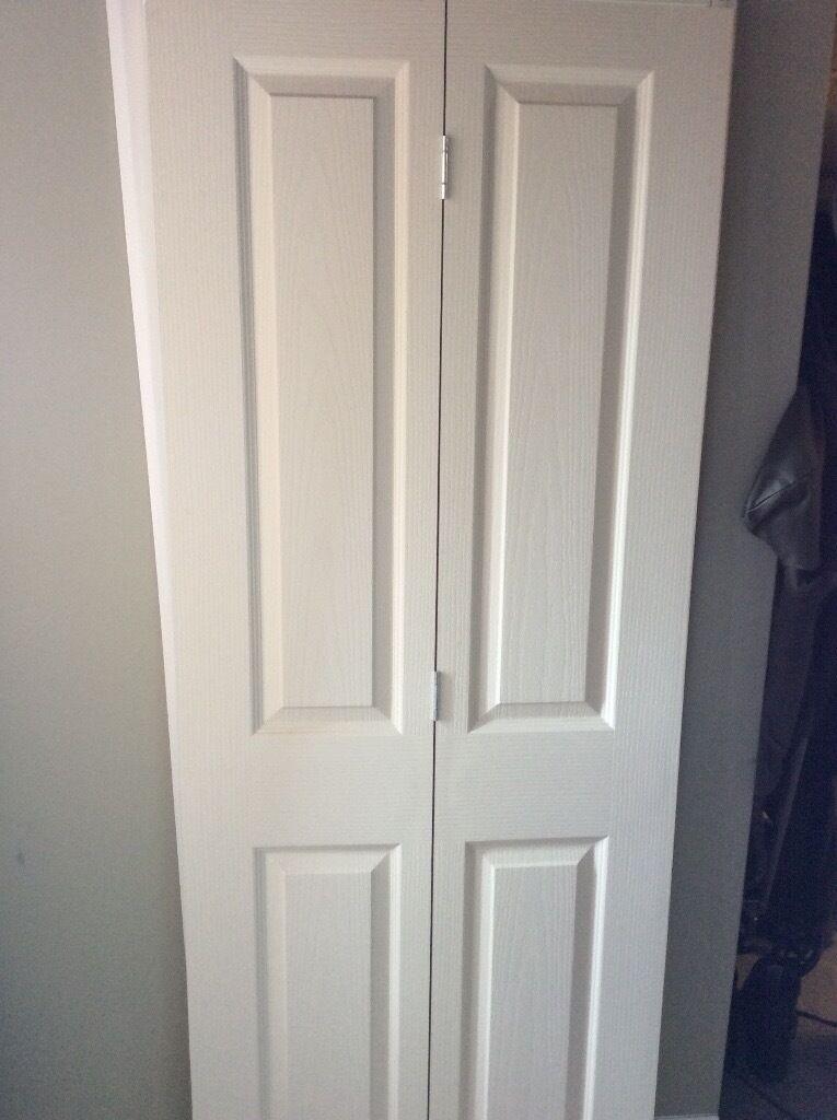 2 X Bq 4 Panel Primed Internal Bi Fold Doors In Romsey Hampshire