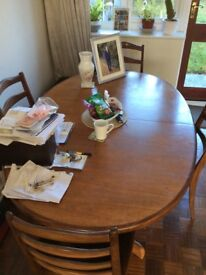 Table and 4 chairs for sale. G plan