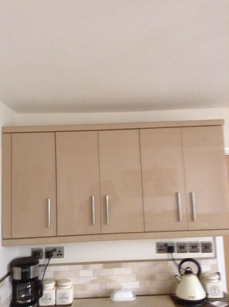 Cappuccino High Gloss Kitchen Cabinets Doors In Neath Neath Port