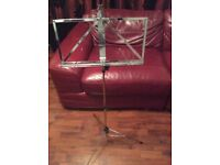 Music stand book holder tripod foldable