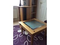 CD/DVD rotating stand and matching side table