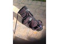 Golf bag good condition black with blue trim