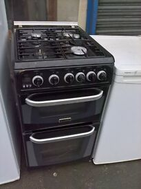hot point Black Gas cooker 50cm...Mint free delivery