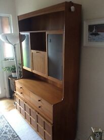Parker knoll Nathan unit with cocktail cabinet c. 1970's