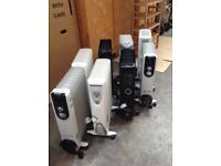 Column Mobile Radiators on Wheels selection of 7 Dimplex and Homebase