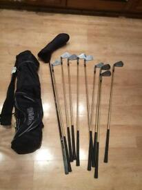 Golf - Driver and iron set with carry bag