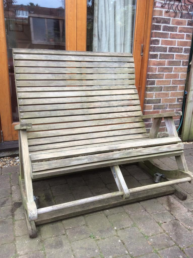 Pepe Garden Furniture Double rocker bench made by pepe in emsworth hampshire gumtree double rocker bench made by pepe workwithnaturefo