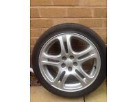 Subaru Impreza WRX alloy wheels 17 in Silver 3 for sale including tyres