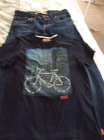 Levi's jeans & T/shirt suit 11/13 yr.old slim fit ex.con. £6