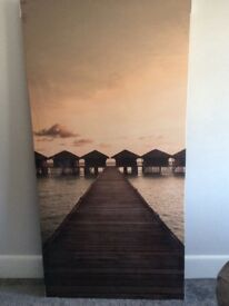 Large Sunset Canvas from Next. 80cm wide x 160cm high. New. Still in plastic wrapping.