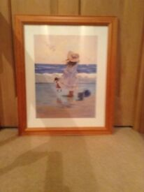 Excellent condition, pine framed print,