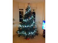 """XMAS TREE 7'6"""" with cones & berries & free lights"""