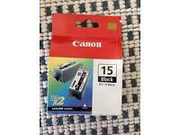 2x Ink carteridges Canon Black BCI-15