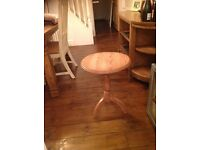 Small wooden round plant table