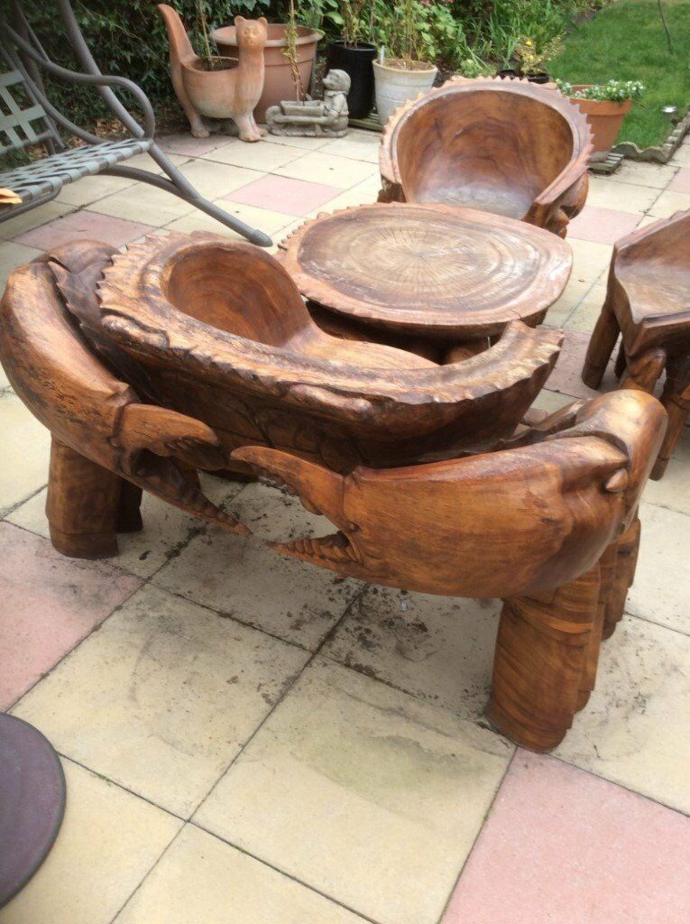 Bespoke Crab Garden Furniture Set In North Ferriby East Yorkshire