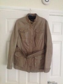 Ladies Taupe Woodland Leather Jacket