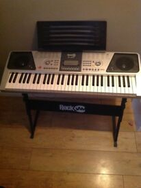 Keyboard with stand rock jam RJ661