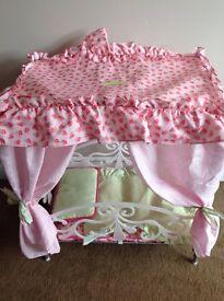 Silver Cross So Pretty dolls cot/bed.