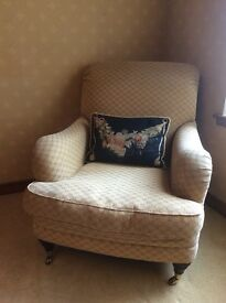 Marks and Spencer Club chair in a chenille fabric, excellent condition -£100